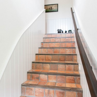 Reetdachhaus Amrum Norddorf Bliis Tidjen Hölck Ferienwohnung 3 - Treppe